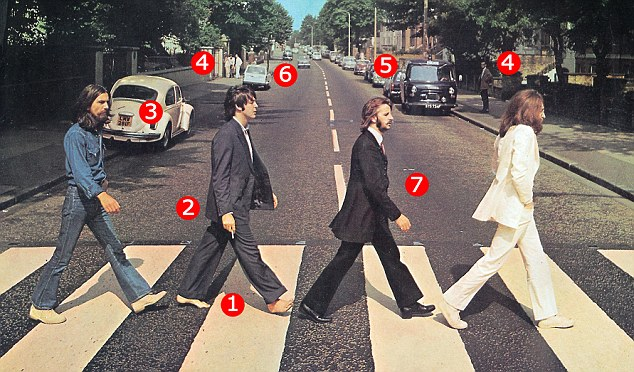 The Beatles' world-famous Abbey Road album cover that sparked a million conspiracy theories